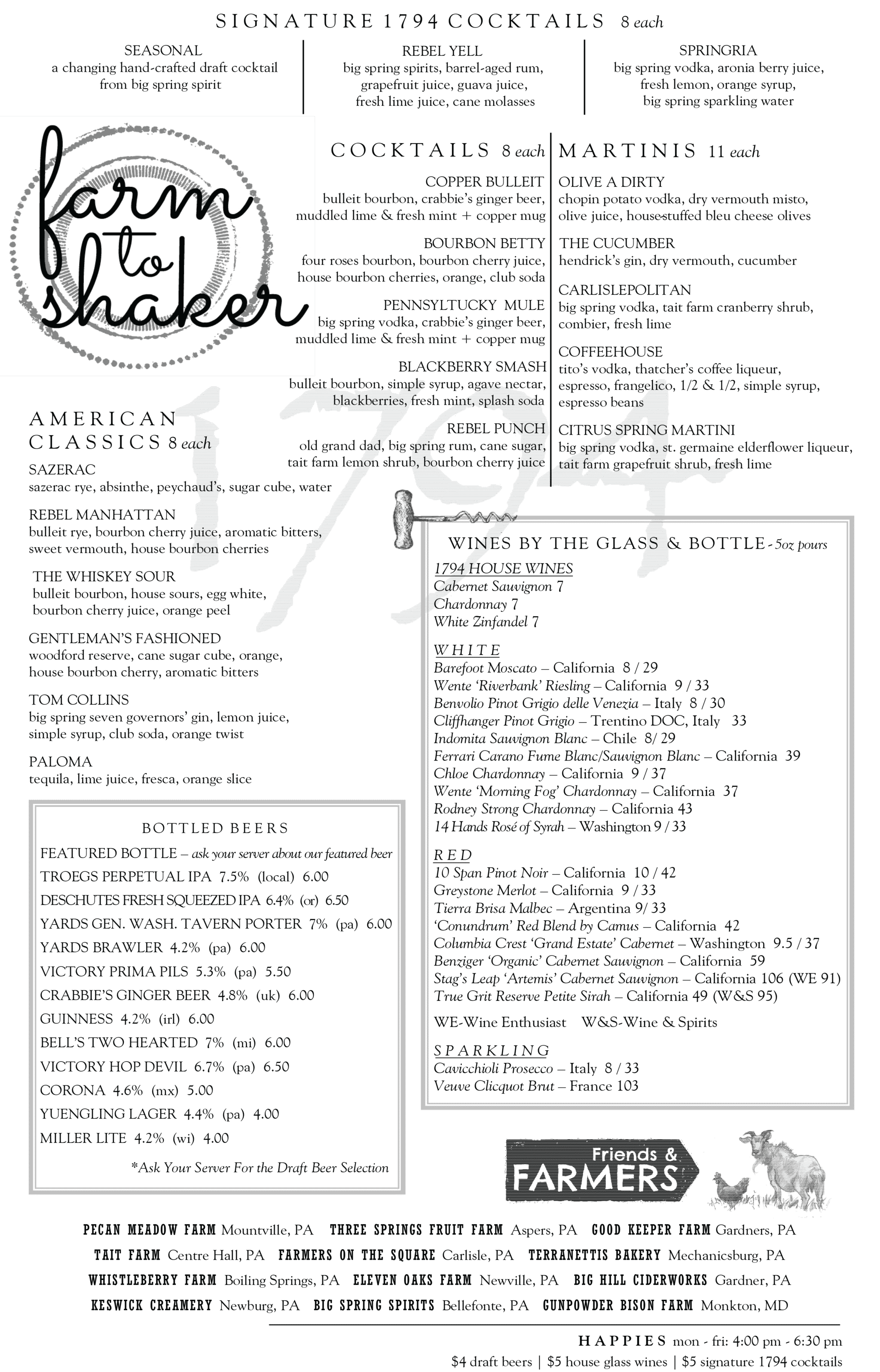 1794 The Whiskey Rebellion Cocktail Menu
