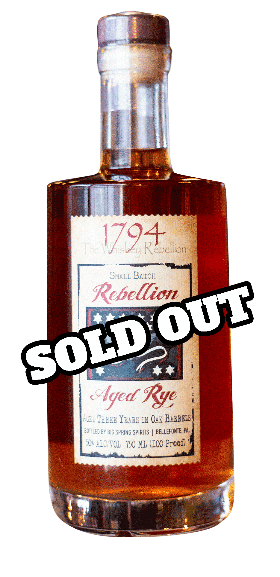 Aged Rye sold out