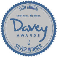 15th Annual Davey Award Badge Silver